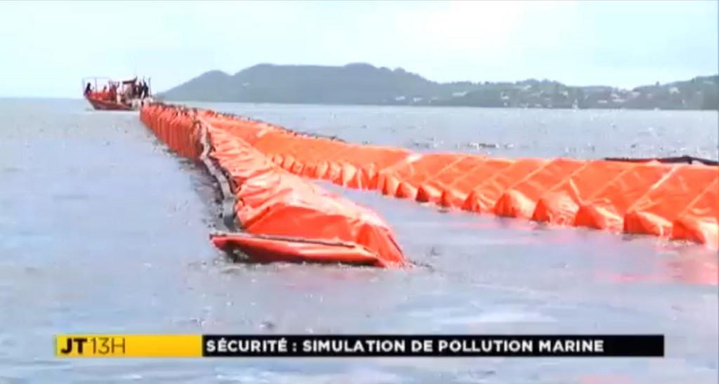 Simulation de pollution marine accidentelle au robert